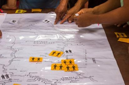 Ejercicio de mape.o colectivo. Foto: Diego Benavente